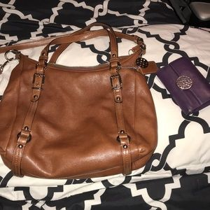 Coach leather purse and wallet